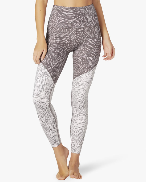 Lux Etched Fans High Waisted Midi Legging