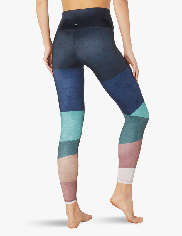 Lux Scenic Ombre High Waisted Midi Legging