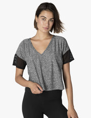 Featherweight V-Neck Cropped Tee