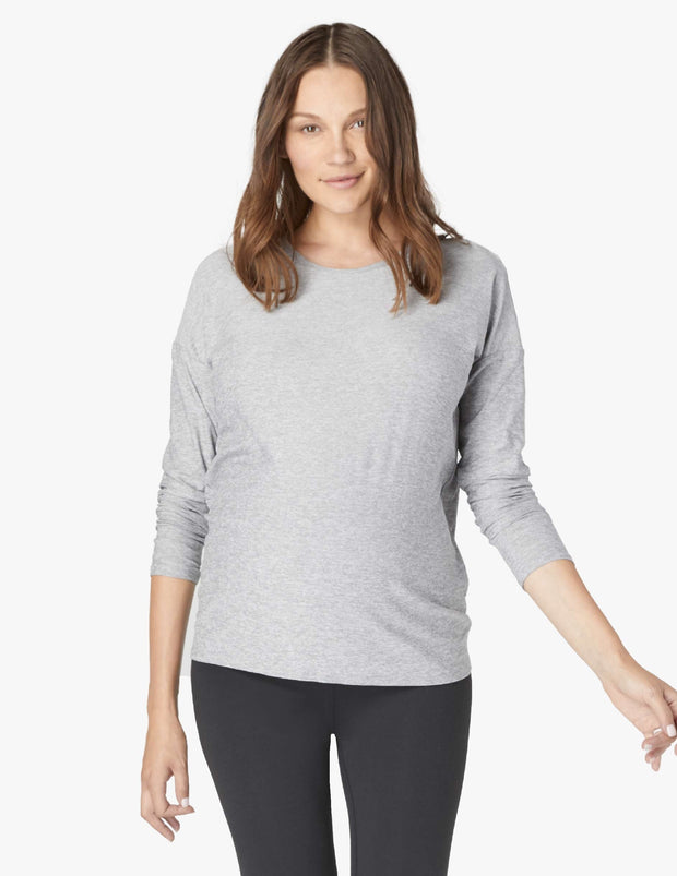 Draw The Line Tie Back Maternity Pullover