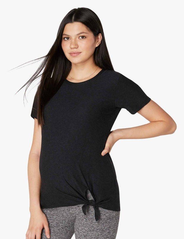 Maternity All For Ties Shortsleeve Tee