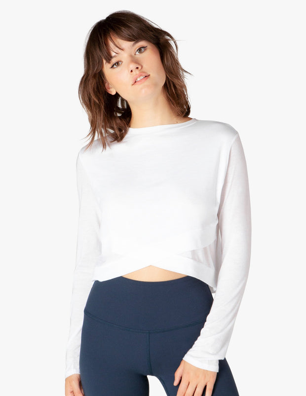 Back Out Reversible Cropped Pullover