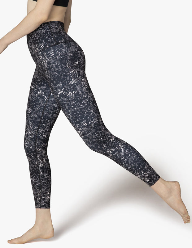 Olympus Phantom Lace High Waisted Midi Legging