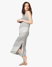 Bring It Ombre Striped Maternity Midi Dress