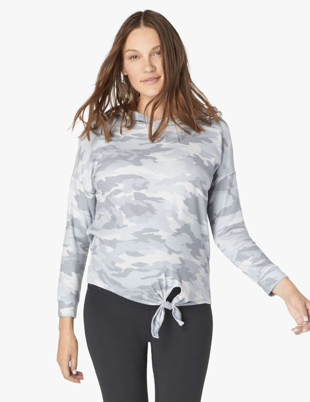 Maternity Camo Tied Up Hoodie