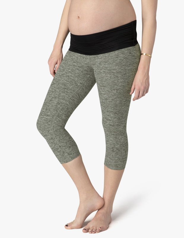 Spacedye What's Kickin Maternity Capri Legging