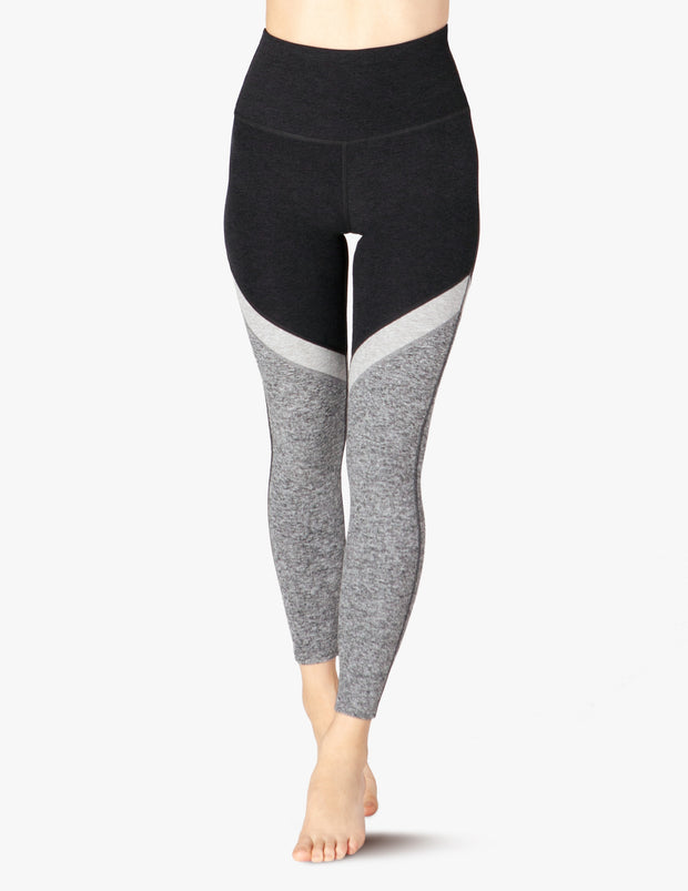 Tri-Panel Spacedye High Waisted Midi Legging