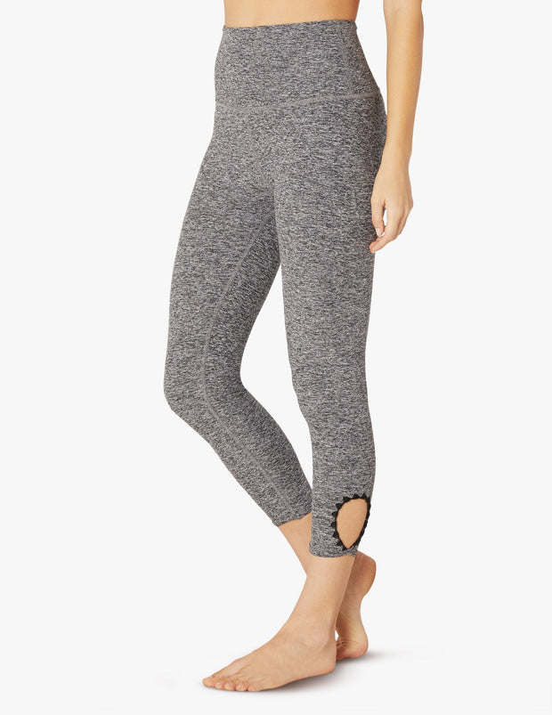 Spacedye Blanket Stitch High Waisted Capri Legging
