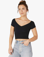 Spacedye Day One Short Sleeve Cropped Top