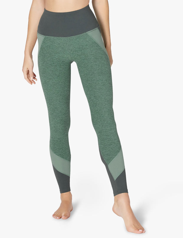 Colorblocked High Waisted Long Legging