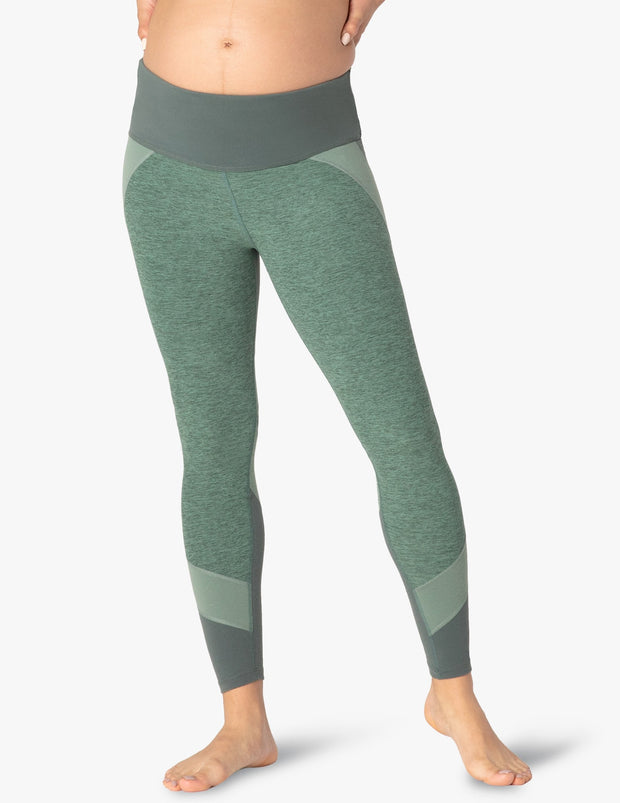 Colorblocked Empire Waisted Maternity Long Legging