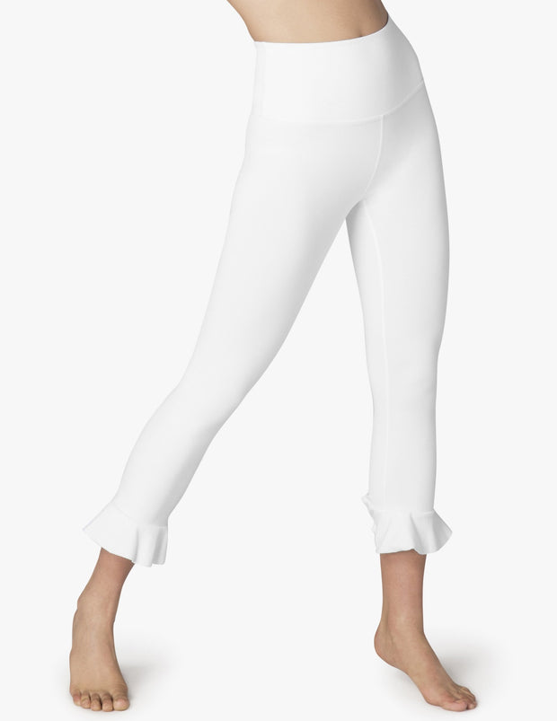 Frill Seeker High Waisted Midi Legging