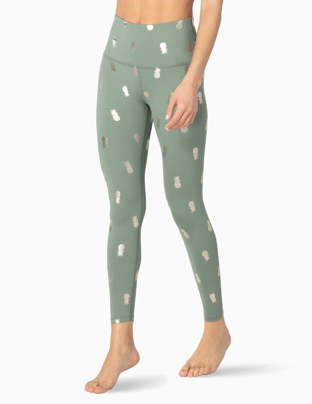 Pineapple High Waisted Midi Legging