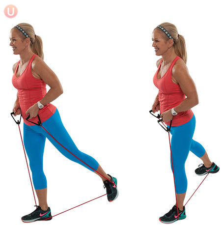 Resistance Band Alternating Glute Squeeze