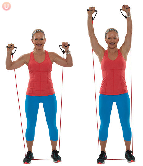 Resistance Band Overhead Shoulder Press