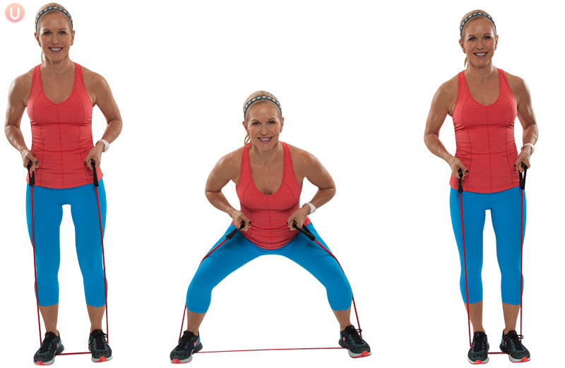 Resistance Band Side-to-Side Squat
