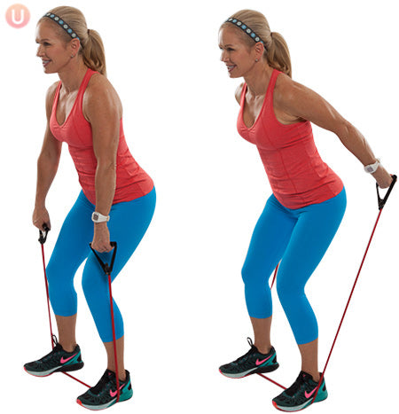 Resistance Band Tricep Shoulder Press
