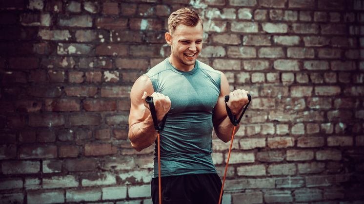 Arm Workout With Resistance Bands To Build Muscle