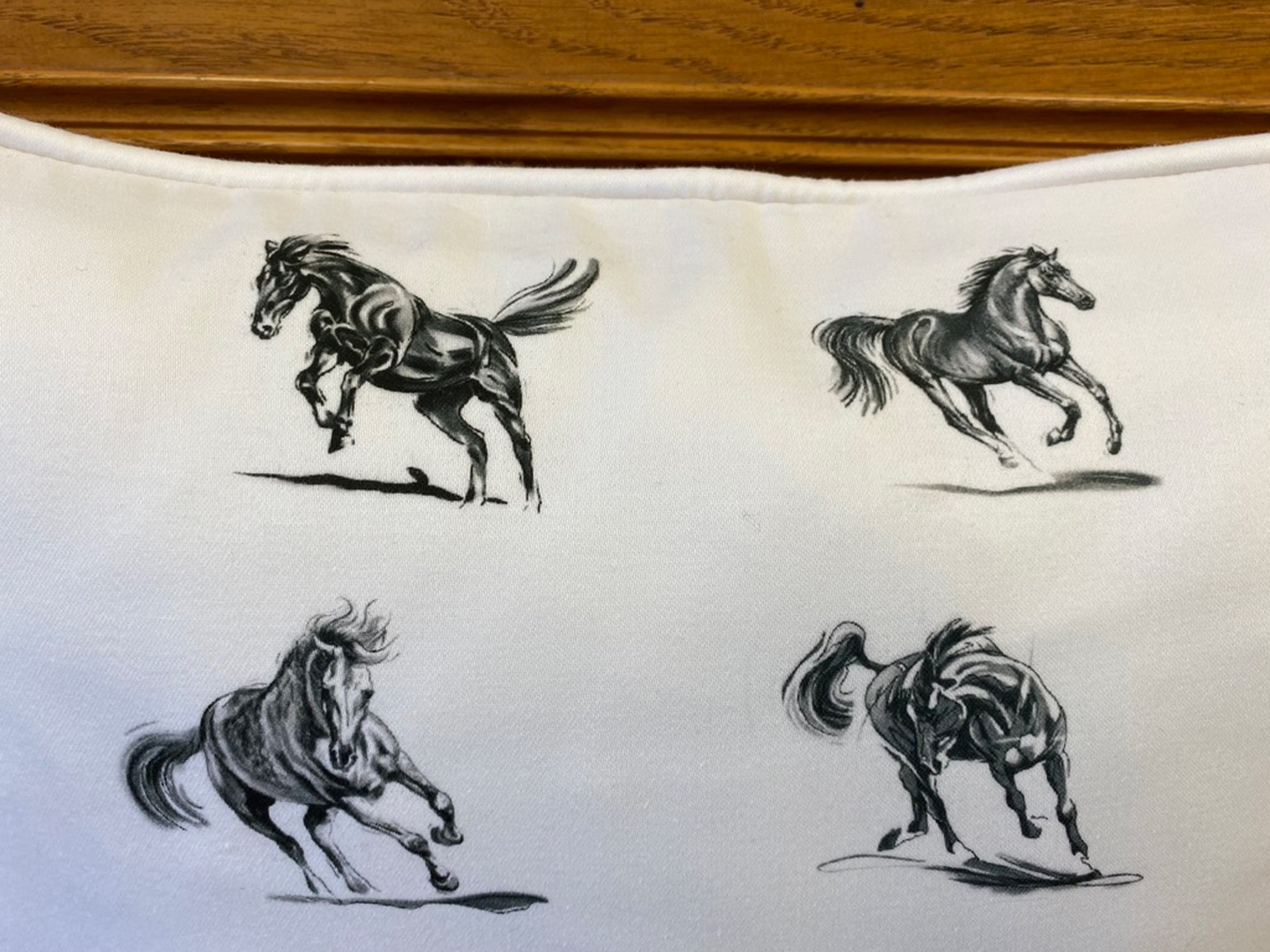 Pure Cotton Horse Cushion Cover