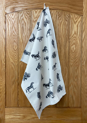Linen Horse Tea Towel