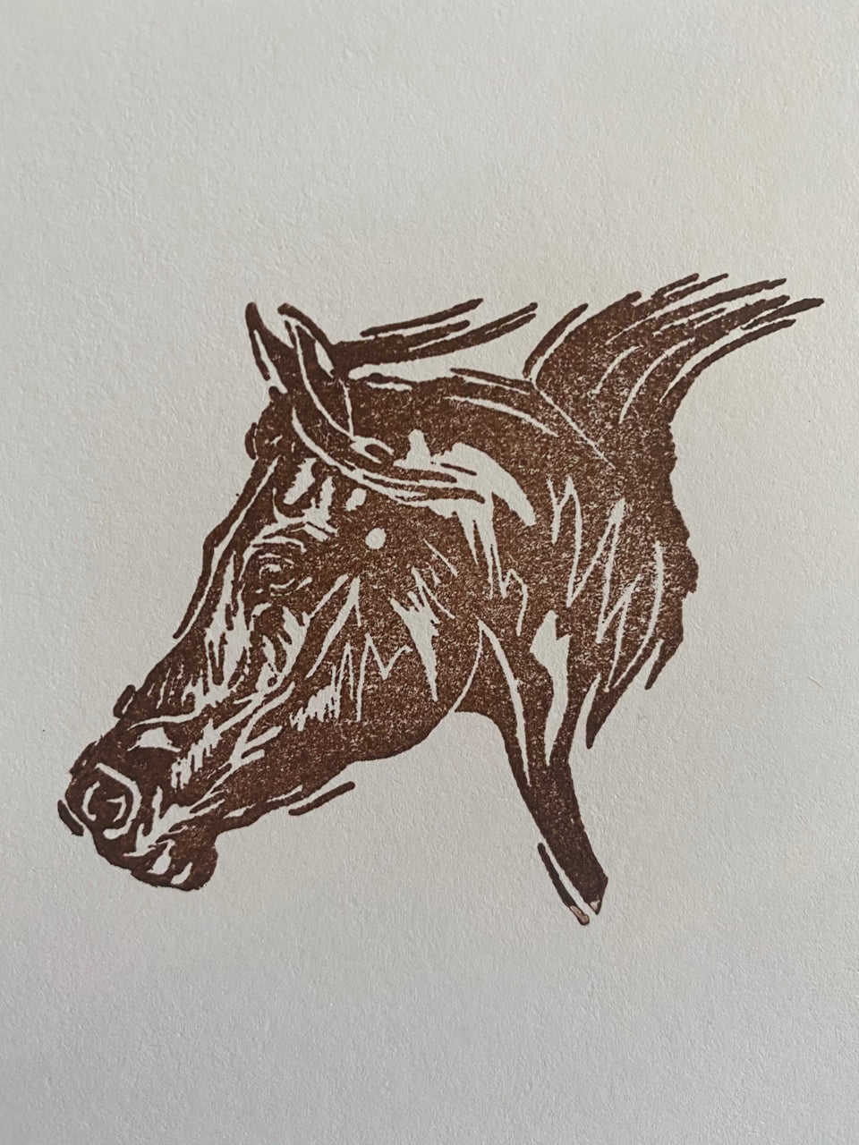 Horse Head Rubber Stamp