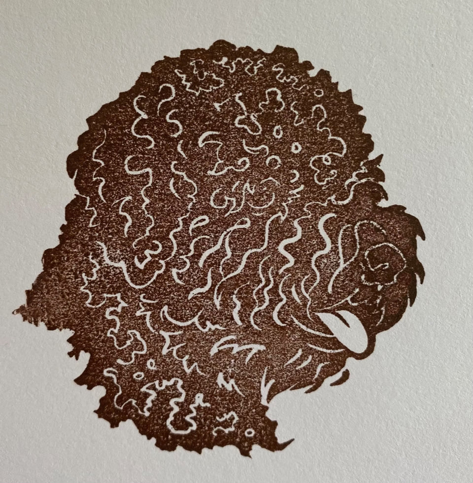 Lagotto Romagnolo Head Rubber Stamp