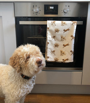Linen Lagotto Tea Towel