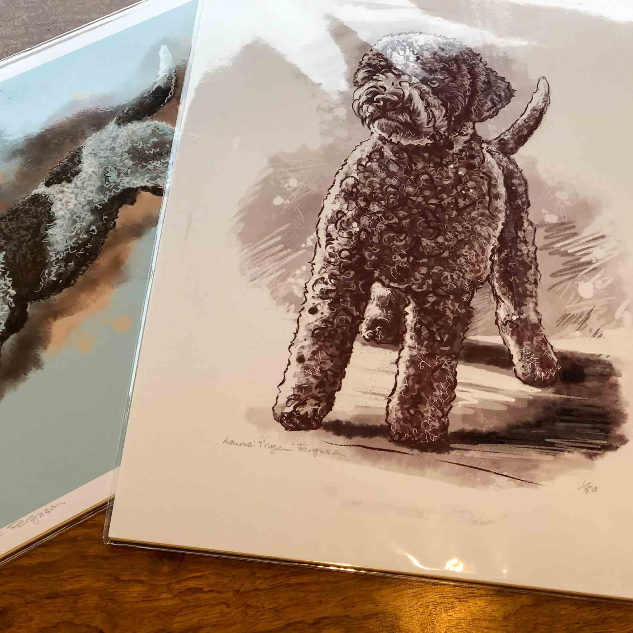 Lagotto Snuggles - Limited Edition Print