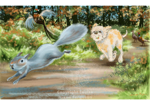 Lagotto are Natural Hunters - Limited Edition Print