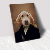 The Aristocrat - Custom Pet Portrait Canvas