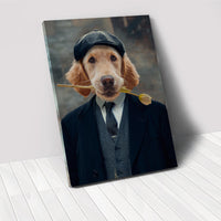 Dog In Suit- Custom Pet Portrait Canvas
