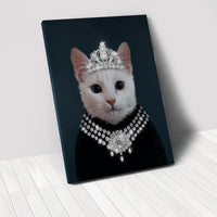 The Classy Lady - Custom Pet Portrait Canvas