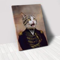 The Admiral - Custom Pet Portrait Canvas
