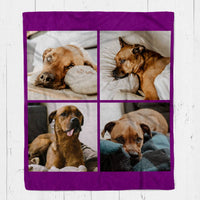 Custom Pet Photo Collage Blanket