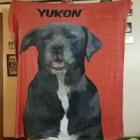 Woofy Single Color Custom Dog Blanket