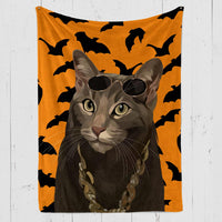 Halloween Custom Pet Blanket