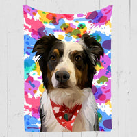 Woof Splash Custom Dog Blanket