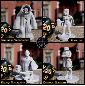 Heroic Townsfolk Miniatures Set