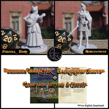 Load image into Gallery viewer, Heroic Townsfolk Miniatures Set
