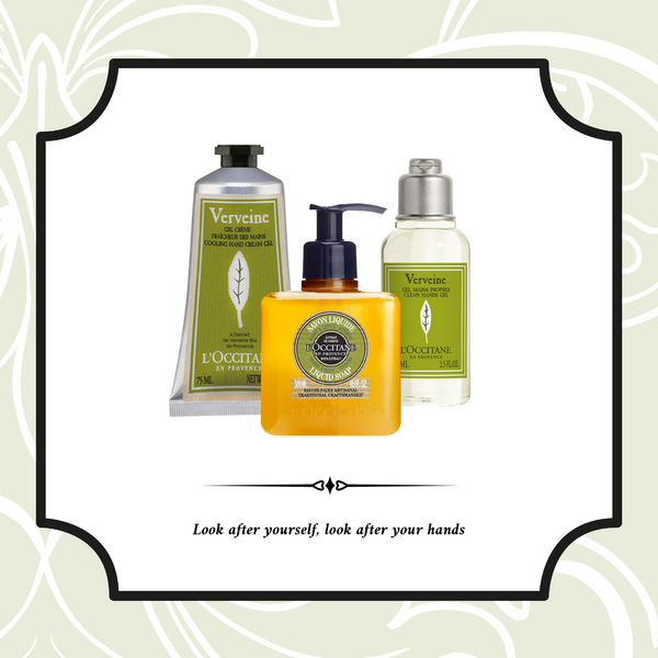 Bundle Offer: L'Occittane Verbena Clean Hands Gel, Verbena Liquid Soap and Verbena Hand Cream Gel