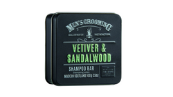 Scottish Fine Soaps Vetiver & Sandalwood Shampoo Bar in a Tin 100g
