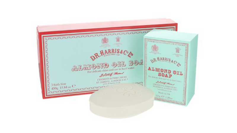 D.R Harris Almond Oil Soap Box of 3