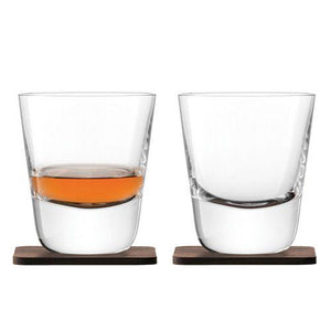 Arran Tumblers & Walnut Coasters 250ml Qty 2 - WineStuff.net - WineStuff.net - -