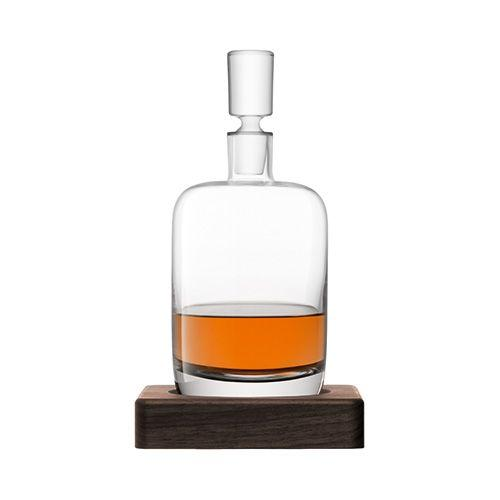 Renfrew Whiskey Decanter includes walnut coaster 28cm 1.1L - WineStuff.net - WineStuff.net - GC C4-11009