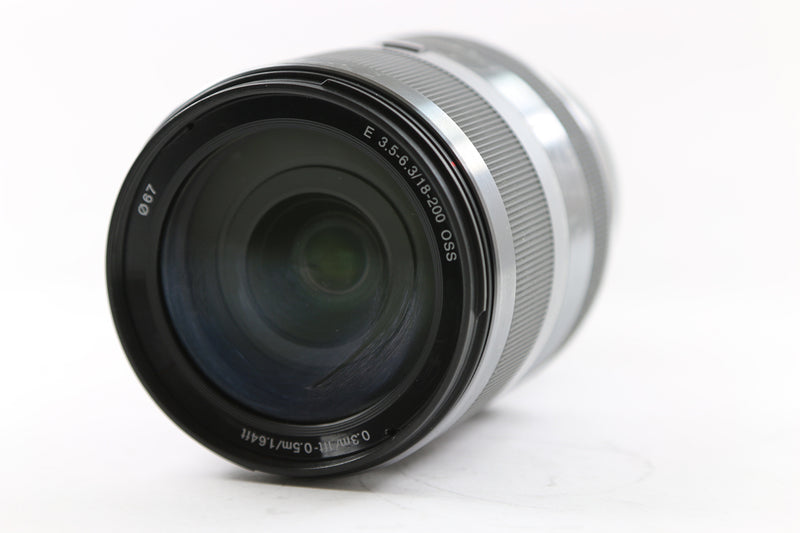 used Used Sony E 18-200mm f/3.5-6.3 OSS Lens SEL18200 - Silver - SO Cameras