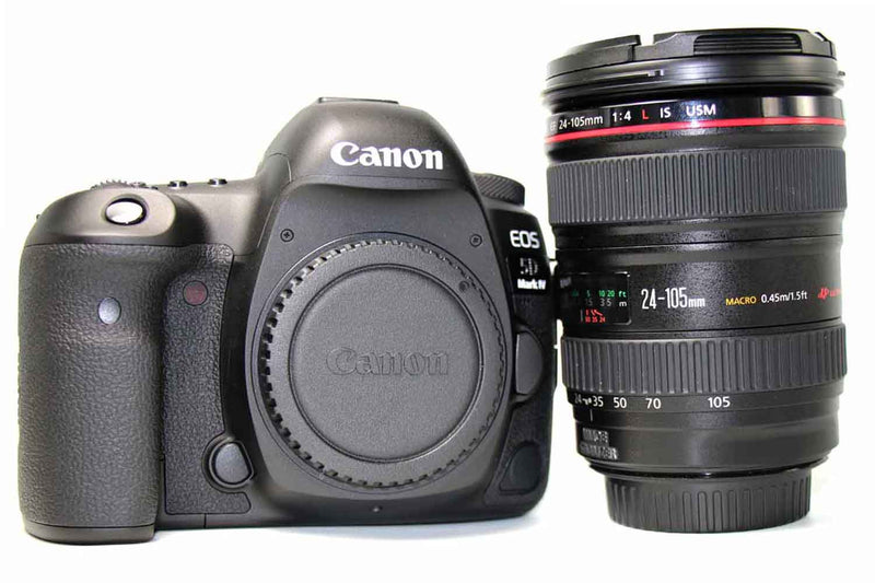 used Canon EOS 5D Mark IV and Canon EF 24-105mm f/4L IS USM Lens - SO Cameras