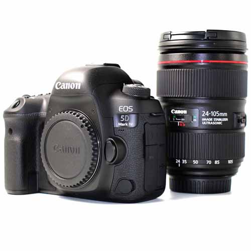 Used Canon EOS 5D Mark IV and Canon EF 24-105mm f/4 L II Lens