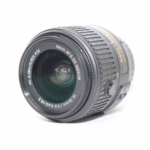 used Nikon AF-S 18-55mm f/3.5-5.6G ED DX II - SO Cameras