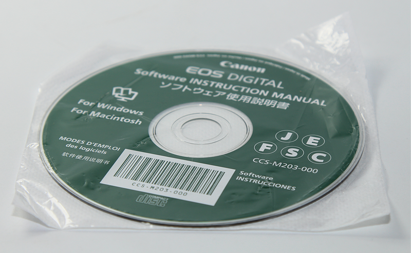 Canon EOS Digital Software Instruction Manual Disk