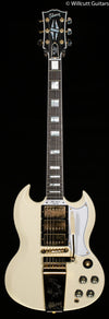 Gibson 1963 Les Paul SG Custom Reissue with Maestro Vibrola - Classic White